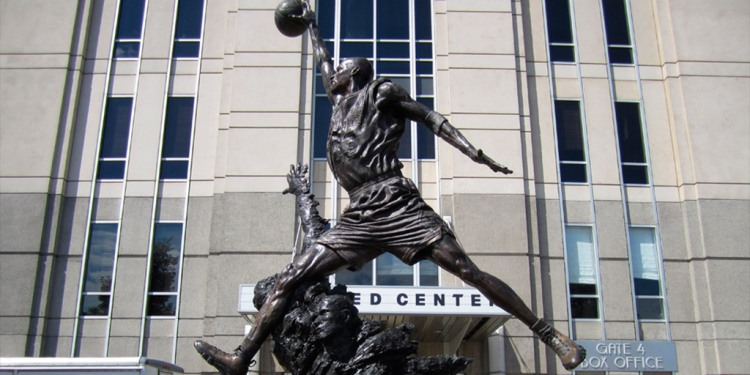 Michael Jordan en e lUnion Center, Chicago